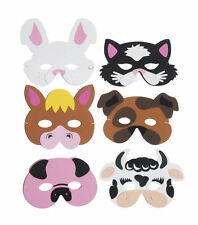 6 Foam Farm Animal Masks - Pinata Toy Loot/Party Bag Fillers Wedding/Kids