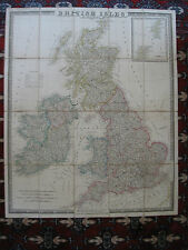 1838 Cruchley Map England Wales Scotland Slipcase Old Antique British Isles