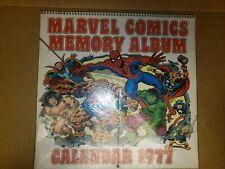 1977 Marvel Comics  MEMORY ALBUM CALENDAR Marvelmania.  NM