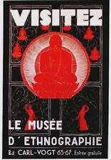 Original vintage poster BUDDHA SWISS ETHNO MUSEUM EXPO c.1950