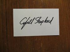 "CYBILL SHEPHERD (""Moonlighting/Psych/1968 Model of Year"")Signed 3 x 5 Index Card"