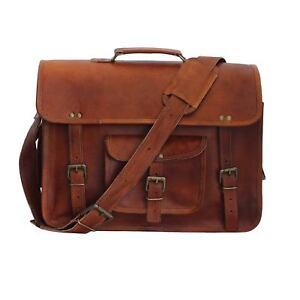 Bag Leather Vintage Messenger Shoulder Men Satchel S Laptop School Briefcase Bag