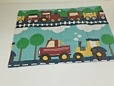 J H F Standard Pillow Sham Quilted Multi Colored Automotive Theme Polyester(1)