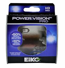 Eiko PowerVision Pro H3 55W Fog Light Two Bulbs Replace Plug Play Halogen OE Fit