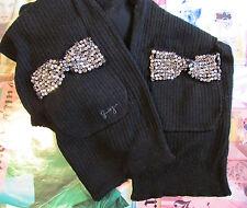 Juicy Couture Scarf Vanderbilt Crystal Bows Pockets NEW