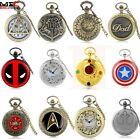 Vintage Design Steampunk Pocket Watch Quartz Pendant Necklace Men's Retro Gift