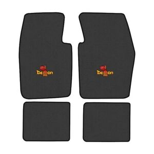 Dodge Demon Custom Logo Loop Carpet Floor Mats - Choose Mat Color And Logo