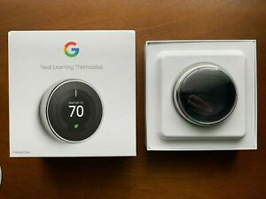NEW Google Nest learning thermostat 3rd generation, polished steel