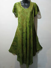 Dress Fits 1X 2X 3X Plus Green Cotton Lace Sleeves Sundress A Shaped NWT G800