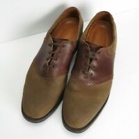 Allen Edmonds Oxford Shoes Men's Size 13 A Links brown suede Leather Made in USA