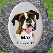Gedenkplatte Porzellanbild Porzellanfoto Keramik Hund-P02►mit Ihrem Foto◄15x10cm