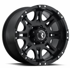 17x9 Raceline 981-Raptor 6x139.7 ET0 Satin Black Rims New Set (4)