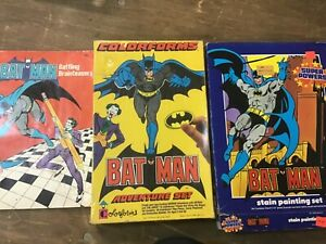 BATMAN COLORFORMS ADVENTURE SET & Stain Painting Lot never used