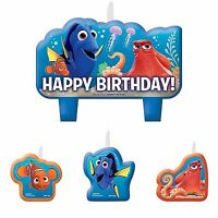 NEW 4pc Finding Dory Nemo Birthday Candle Set Kids Birthday Party Supplies Decor