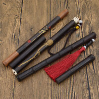 Home Fragrances Ebony Wood Incense Stick Box Cylinder Fragrances Holder Decor