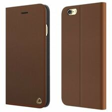 occa Folio De Cuero Funda tipo cartera con tapa / para iPhone 8 Plus / 7 - Brown