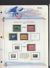 United States Sc. #397 // #402 Panama-Pacific MNH, MH,  SCV. $405.00 (KK105)