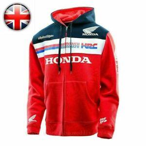 Moto GP HONDA HRC Racing Men's Zipper Hooded Jacket Hoodie UK G2 Hot
