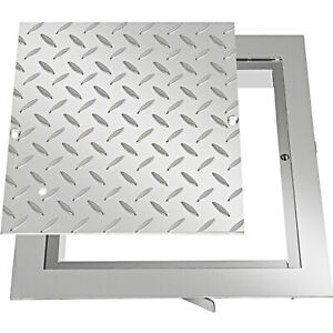 VEVOR Manhole Cover & Frame 30x30 cm Galvanized Steel Lid & Frame for Inspection