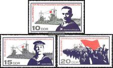 DDR 1308-1310 (kompl.Ausg.) postfrisch 1967 Matrosenaufstand