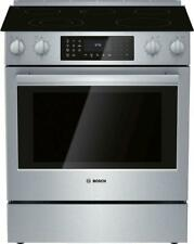 "New ListingBosch 800 Series 30"" T. C. Warming Zone Slide-In Electric Range Hei8056U Perfect"
