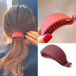 Red Banana Shape Hair Claws Women Girls Hair Clips Ponytail Holder Hairpins