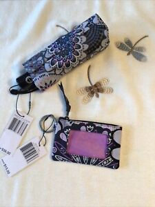 Vera Bradley Mini Automatic & Zip ID Case Umbrella MIMOSA MEDALLION