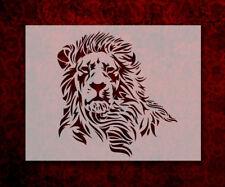 "Lion Main 8.5"" x 11"" Stencil FAST FREE SHIPPING (555)"
