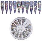 Mix New Wheel Nail Art Studs Rhinestones Diamond Gems  3D Tips Decoration