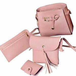Women Shoulder Bag Set Four Fashion Handbag Wallets Femaie