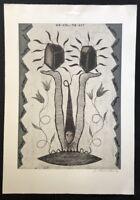 Jan Schoenmakers, Ohne Titel (Unvollendet), Farbradierung, 1990, handsigniert