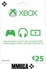 Tarjeta regalo digital de Xbox Live €25 EUR - 25 EURO Xbox código prepago - ES