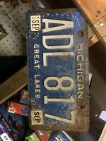 One Michigan license plate