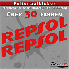 2er SET - REPSOL Sponsoren-Folienaufkleber Auto/Motorrad - 30 Farben - 15cm