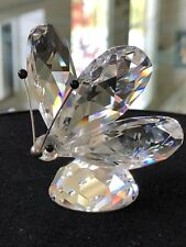 VINTAGE Swarovski CRYSTAL Butterfly large RETIRED  BLOCK LOGO  RARE Collectible