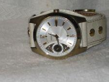 Fossil Men's Twist ME-1041 White Leather Analog Quartz Watch with White Dial