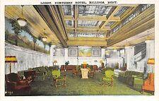 C76/ Billings Montana Mt Postcard c1920 Lobby Interior Northern Hotel Building