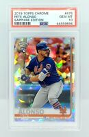 2019 TOPPS CHROME SAPPHIRE #475 PETE ALONSO RC METS ROOKIE SP PSA 10 GEM MINT!