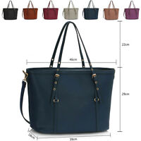 Large Faux Leather Ladies Tote Bag Women's Shoulder Cross Body Maternity Handbag