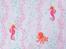 By 1/2 Yard ~ Michael Miller Sea Buddies Floatin' with the Fishes Octopus Fabric