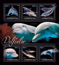 Azerbaijan Dolphins Stamps 2017 MNH Marine Animals Bottlenose Dolphin 6v M/S