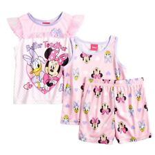 Minnie Mouse & Daisy Duck 3 Piece Summer Pajama Set Size 4T Toddler Girls Disney