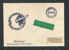 1933 GERMANY Zucker rocket mail cover - HASSELFELDE Night Start