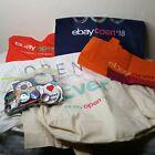 Ebayana Lot Ebay Las Vegas Seller Open 5 Cloth Swag Bags and Pins 2016 2017 2018