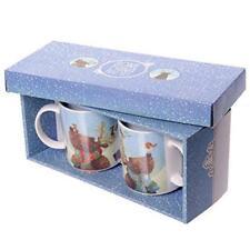 Set of 2 Bone China Mugs - Christmas Reindeer
