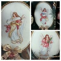Cross Stitch Pattern Christmas ANGELS 3 Victorian Ornament Designs Carol Emmer