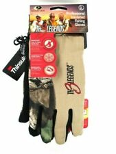 """Mossy Oak Camo """"The 3 Legends"""" Professional Insulated Fishing Gloves L/Xl"""