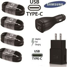 NEW Original Samsung Galaxy S10 S10e S9 S8 Plus Fast OEM Type-C+Wall Car Charger