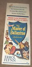 '53 MASTER OF BALLANTRAE Insert Poster ERROL FLYNN