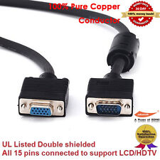 Premium VGA Monitor Extension Cable, HD15 M/F, 10-Feet